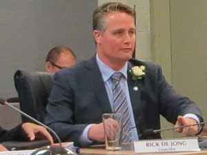 Rick De Jong will continue working on behalf of West Kelowna residents with regards to issues such as economic development.